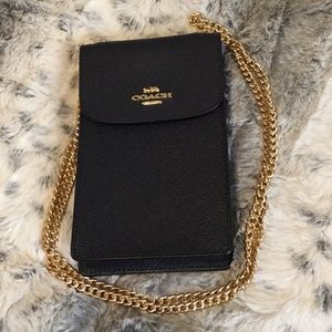 Authentic Coach crossbody cell phone case